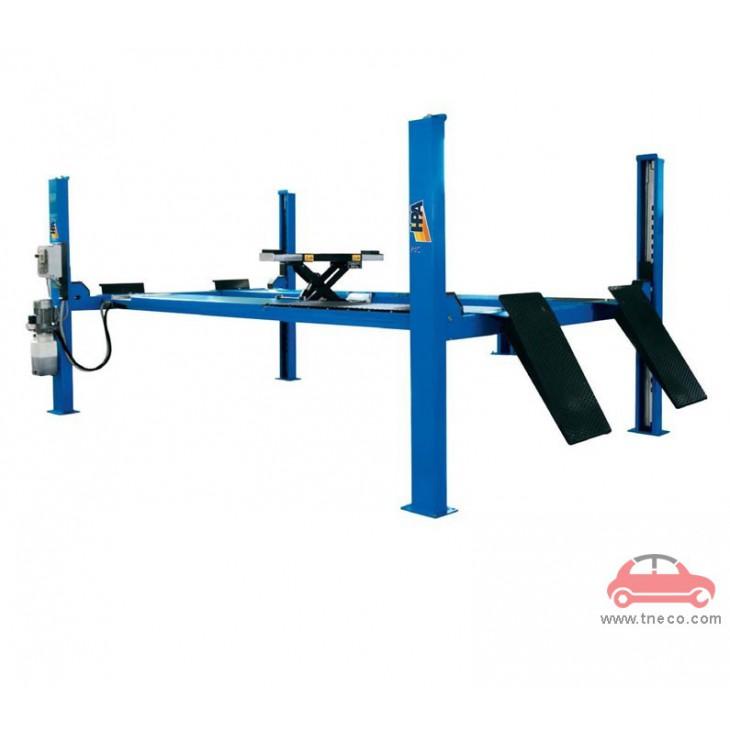 Cầu nâng 4 trụ cân chỉnh thước lái góc đặt bánh xe ô tô sức nâng 4 tấn Italy Ý HPA-P4C 440 CT