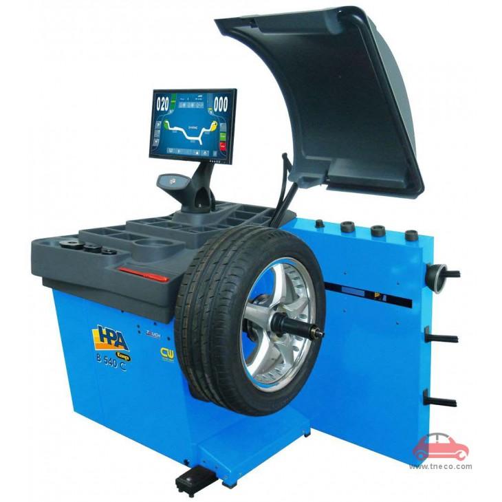 Máy cân bằng động bánh xe mâm xe ô tô tự động HPA Italy B540C EVO