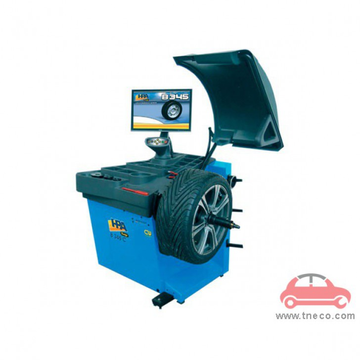 Máy cân bằng động bánh xe mâm xe ô tô tự động HPA Italy B345C EVO