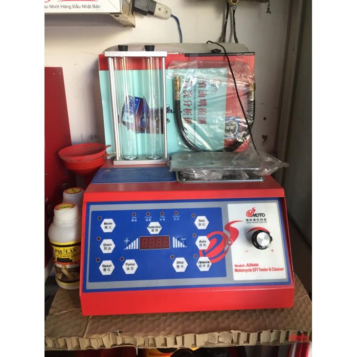 Thiết bị kiểm tra và làm sạch kim phun động cơ xăng xe máy xe ga công nghệ phun xăng điện tử (FI) AI-600