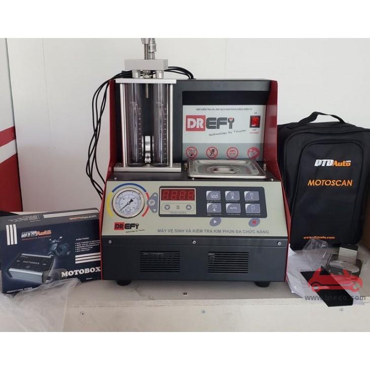 Thiết bị kiểm tra và làm sạch kim phun động cơ xăng xe máy xe ga công nghệ phun xăng điện tử (FI) DREFI