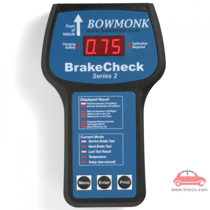 Máy kiểm tra phanh xe ô tô cầm tay Bowmonk Brake Tester UK BrakeCheck Series2