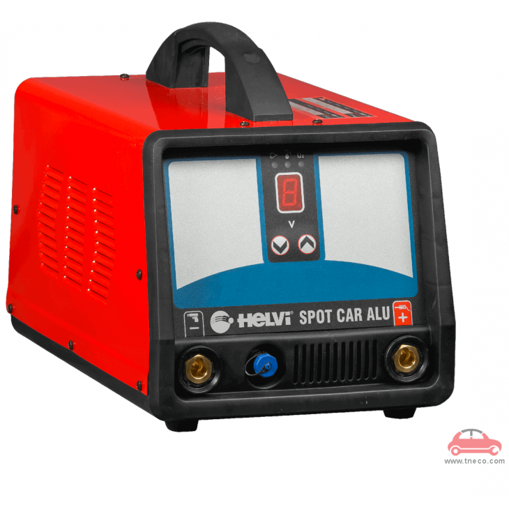 Máy hàn điểm máy hàn giựt tôn xách tay làm đồng xe ô tô vỏ nhôm Italy Ý Helvi Spot Car Alu 33