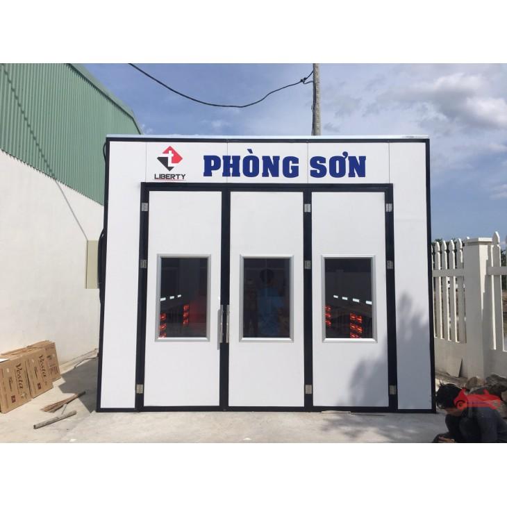 Phòng sơn sấy ô tô đèn hồng ngoại vách cứng Việt Nam sản xuất LT-PSSHN21VN