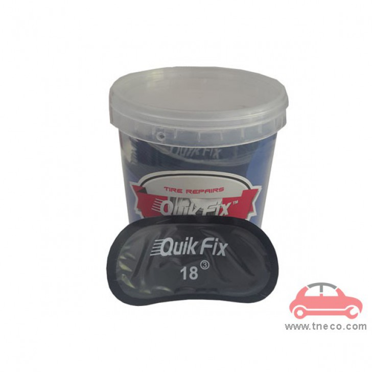 Miếng vá săm ruột vỏ lốp xe máy xe ga xe mô tô hình ô van 50 x 100mmgiá rẻ Quik Fix Mỹ no.18