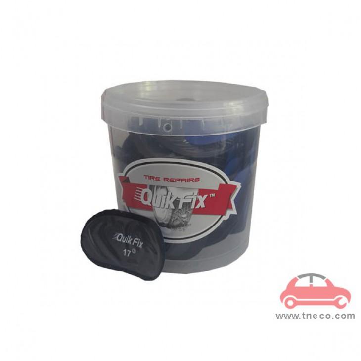 Miếng vá săm ruột vỏ lốp xe du lịch 40 x 65mm hình ô van giá rẻ Quik Fix Mỹ no.17