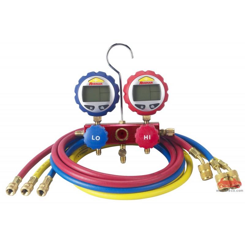 Bộ đồng hồ sạc gas nạp ga lạnh điều hòa hiển thị điện tử Robinair Rob-43186
