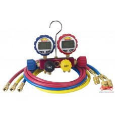 Bộ đồng hồ sạc ga nạp ga lạnh điều hòa cao cấp hiển thị điện tử Robinair Rob-43166 (bao gồm bộ dây sạc)