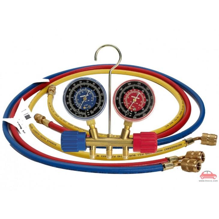Bộ đồng hồ sạc ga nạp ga kiểm tra áp suất ga lạnh điều hòa Robinair Mỹ ROB-40194