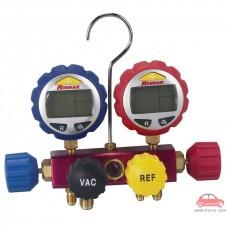 Bộ đồng hồ sạc ga lanh cao cấp hiển thị điện tử 43160 Robinair - 4 cổng (không kèm dây sạc)