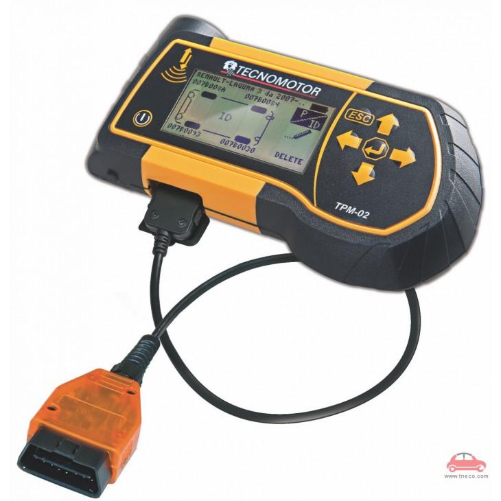Dụng cụ lập trình chẩn đoán cảm biến áp suất lốp xe ôtô cầm tay Tecnomotor Ý TPM-02